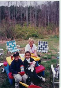 kayla dusty and grandma march 2001